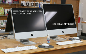Non Glare Film Applied to Left Side Monitor